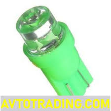 Авто <b>лампа</b> LED 12V [безцок. T10 <b>w5w стандарт</b> ЗЕЛЕНАЯ]