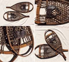cabin decor lodge sled: antique handmade snowshoes cozy cabin decor quacbaccois style found wall art rustic artifacts americana