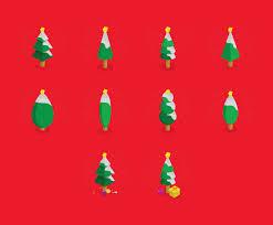 <b>Cartoon Christmas Tree</b> Isometric Icon Set Vector Art & Graphics ...