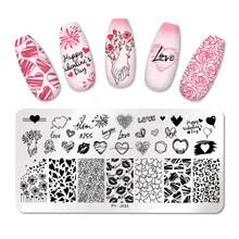 <b>PICT You</b> Valentine's Day <b>Nail</b> Stamping Plates Love Rose Flower ...