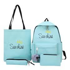 〔sunyueydeng〕4pcs/<b>set Composite Bags Women</b> Letter Print ...