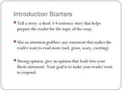 attention grabbing sentences for essaysintroductions   essay  s