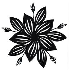<b>cut</b> paper design Five-Fold Hosta Star