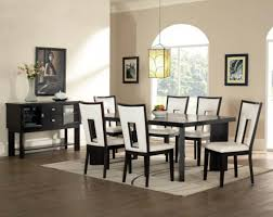 Black Leather Dining Room Chairs Dining Room Table Sets Leather Chairs Dining Room Table Sets