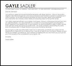 administrative secretary cover letter sample livecareer administrative secretary cover letter sample
