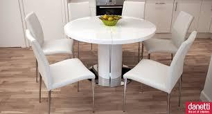 white gloss extending dining set
