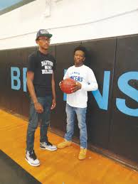 keeping it close the wilson times beddingfield high seniors miguel brown left and e j moody signed national letters of intent