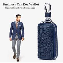 men purse with crocodile pattern