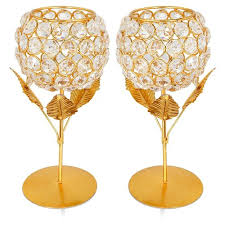 Crystal <b>Rose</b> Brass Candle Holder For <b>Decoration Home Decor</b> ...