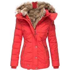 <b>Women's Winter Warm</b> Hooded Coat <b>Slim</b> Padded Faux Fur Coat ...