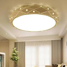 <b>Crystal round ceiling lights</b> Modern Ceiling Lamp for Living Room ...