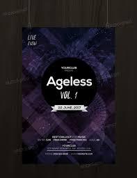 ageless event psd flyer template net ageless is a psd flyer template