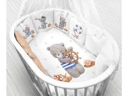 <b>Комплект Моей крохе</b>, Мишка моряк, 12 бортиков, постельное ...