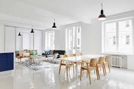 dining table interior design kitchen:  polished white dining table
