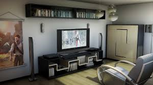 roommodern unique room decor nice: modern and sleek video game room
