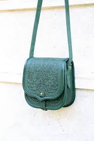 cool emerald green black tooled leather bag shoulder bag crossbody bag handbag bags cool cru gear