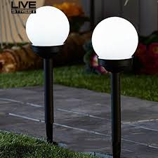 NEW  <b>2Pcs</b> Round Ball <b>LED</b> Light Lawn Backyard Pathway Garden ...