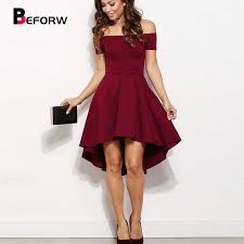 BEFORW Fashion <b>2019 Women</b> Sexy Off The Shoulder Dress <b>White</b> ...