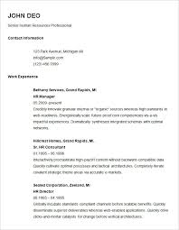 basic resume template for senior hr professional free download free downloadable resume formats