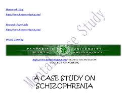 Mental health nursing case study essay SlideShare