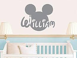 <b>Wall</b> Decals Custom Personalized Name <b>Disney Head</b> Mice <b>Ears</b> ...