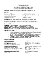entry level cpa resumes template entry level cpa resumes