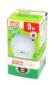 <b>Лампа</b> светодиод. <b>Jazzway PLED</b>-<b>ECO</b>-<b>G45</b> 5w E27 3000K 400Lm ...