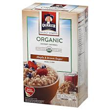 Quaker Select Starts <b>Organic Instant Oatmeal</b>, Maple & Brown Sugar ...