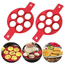 Red 7 Holes Heart <b>Reusable Non Stick</b> Pancake Fried Egg Mold ...