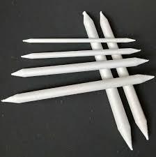 <b>6Pcs</b> Smudge Stump Stick Pastel Blending Tortillon Sketch Art <b>White</b> ...
