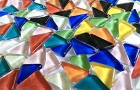 Sai Mosaic Art Glass Art <b>Triangular Mosaics</b> with Adhesive and ...