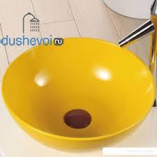 <b>Раковина Melana</b> MLN-<b>T4004</b>-<b>B6</b> (желтая), цена 9815 руб в ...