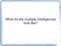 visual essay multiple intelligenceswhat do the multiple intelligences look like
