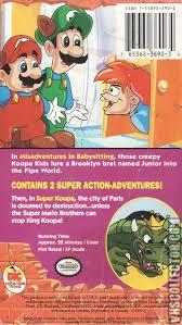 the adventures of super mario bros 3 misadventures in 3 misadventures in babysitting vhs cover