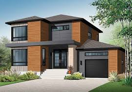 Modern House Plan   Bedrooms and   Baths   Plan