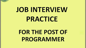 job interview practice for the post of programmer unit  09 job interview practice for the post of programmer unit 6 practice 4