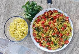 <b>Yellow Summer</b> Squash 'Spaghetti' with Roasted Tomato Sauce ...
