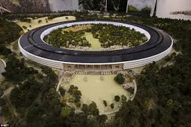 this room sized mock up of the planned new apple headquarters in cupertino was apple new office design