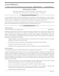 chef resume objective template chef resume objective