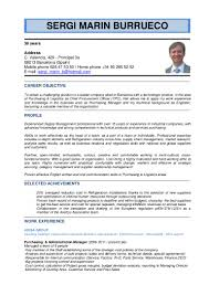 cv for engineer inspirenow english cv sergi marin