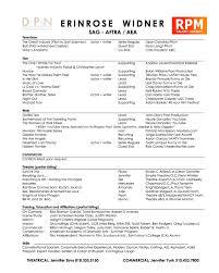 erinrose widner resum eacute  erinrose widner resume