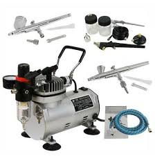 New <b>Pro Dual Action 3</b> AIRBRUSH AIR COMPRESSOR Kit Craft ...