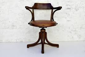 Thonet Furniture Vintage <b>Desk Chair Bentwood Swivel</b> Office Stool ...