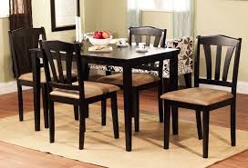 4 chair kitchen table:  piece dining set wood breakfast furniture  chairs and table kitchen dinette ebay