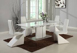 dining table chintaly elizabeth modern white wood pedestal dining table quot extension leaf