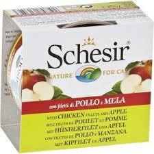 <b>Консервы Schesir Nature for</b> Cat Chicken Fillets & Apple кусочки в ...