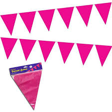 <b>Pink Pennant Banner</b> Decoration