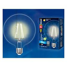 Светодиодная <b>лампа Uniel LED</b>-G125-10W/WW/E27/CL PLS02WH