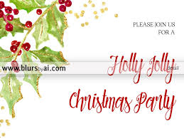 printable christmas party invitation template for word in x printable christmas party invitation template for word in 5x7 featuring holly leaves and berries