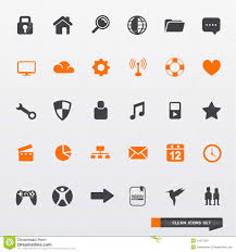 simple clean icon set royalty stock photography image simple clean icon set